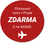 Přistavení vozu v Praze ZDARMA (i na letiště)