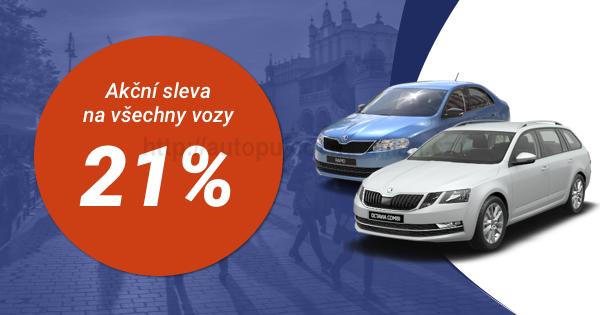 21 % Akce na pronájem vozidel